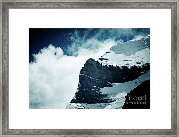 Holy Kailas West Slop Himalayas Tibet Artmif.lv Framed Print