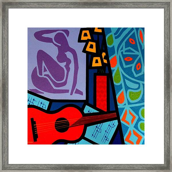 Homage To Matisse II Framed Print