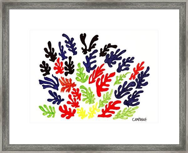 Homage To Matisse Framed Print