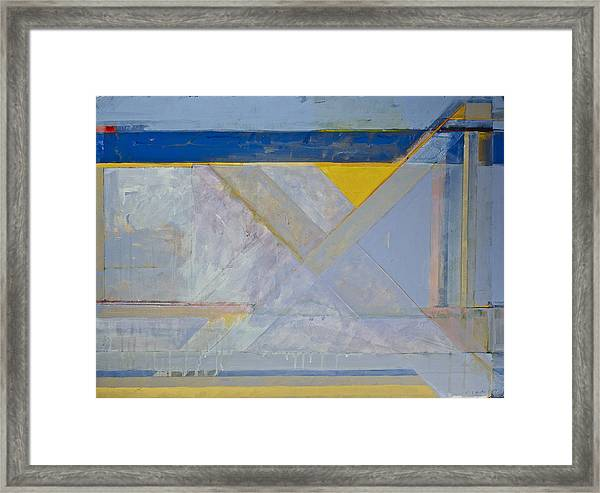 Homage To Richard Diebenkorn's Ocean Park Series  Framed Print