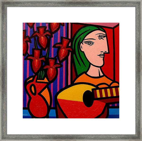 Homage To Picasso Framed Print