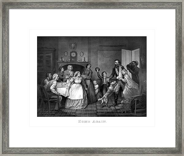 Home Again - Civil War Framed Print