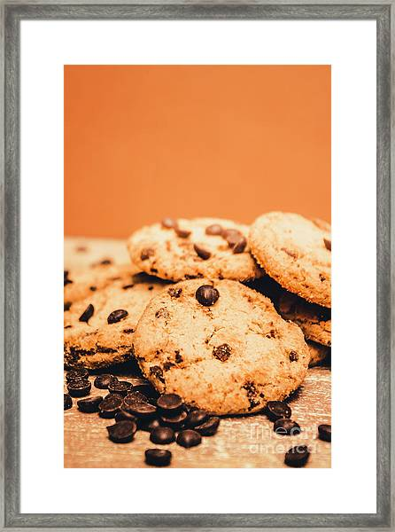 Home Baked Chocolate Biscuits Framed Print