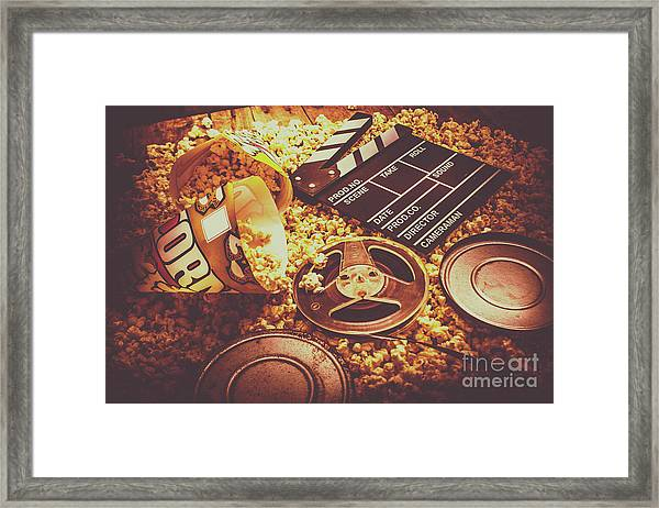 Home Cinema Art Framed Print