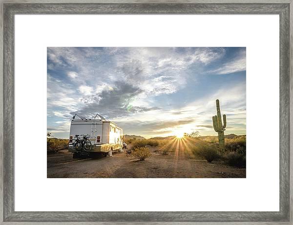 Home In The Desert Framed Print