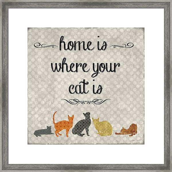 Home Is Where Your Cat Is-jp3040 Framed Print
