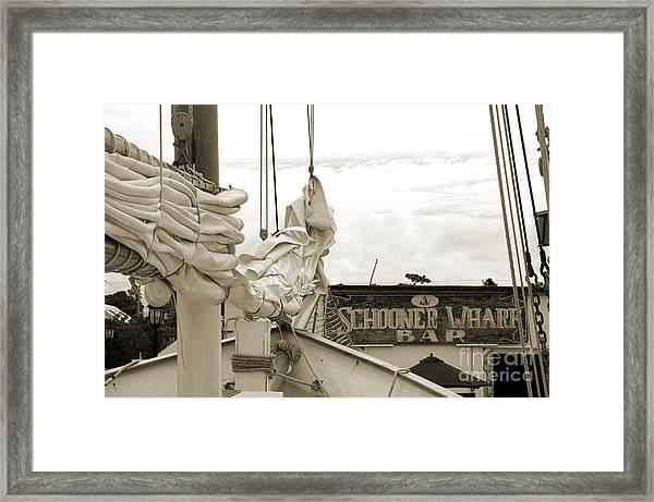 Home On The Wharf Framed Print