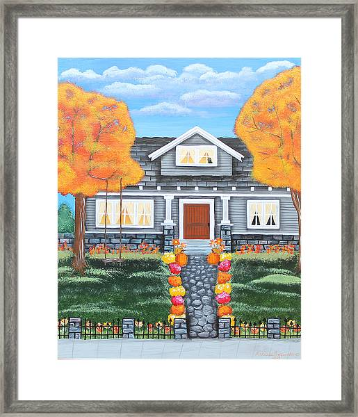 Home Sweet Home - Comes Autumn Framed Print