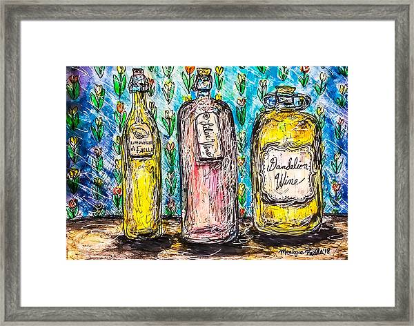 Homemade Wine Framed Print