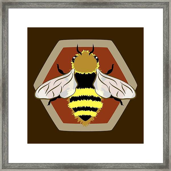 Honey Bee Graphic Framed Print