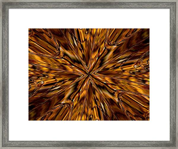 Honey Flow Framed Print
