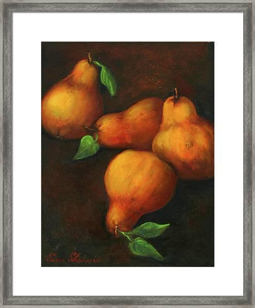Honey Pears Framed Print