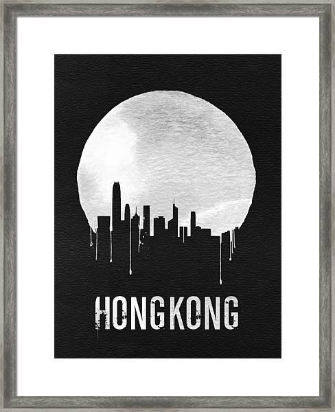 Hong Kong Skyline Black Framed Print
