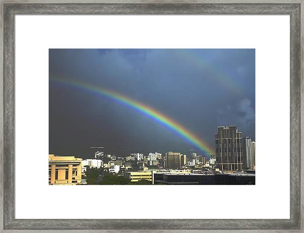 Honolulu Rainbow Framed Print