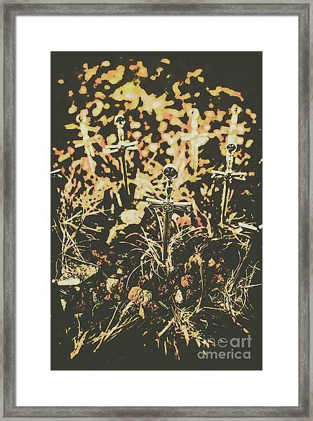 Honor Of The Fallen Framed Print