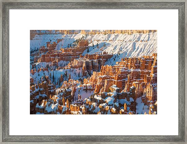 Hoodoo Sunrise Framed Print