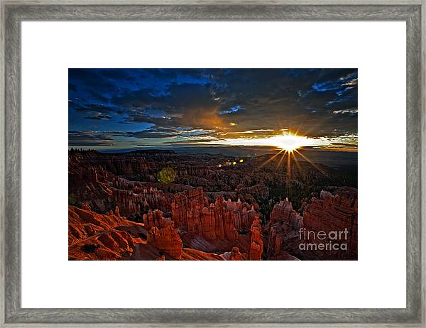 Hoodoos At Sunrise Bryce Canyon National Park Framed Print