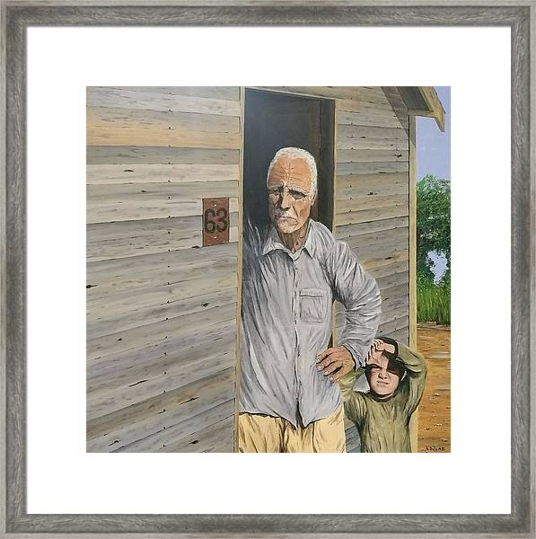 Framed Print featuring the painting Hooper Ranch #63 by Kevin Daly