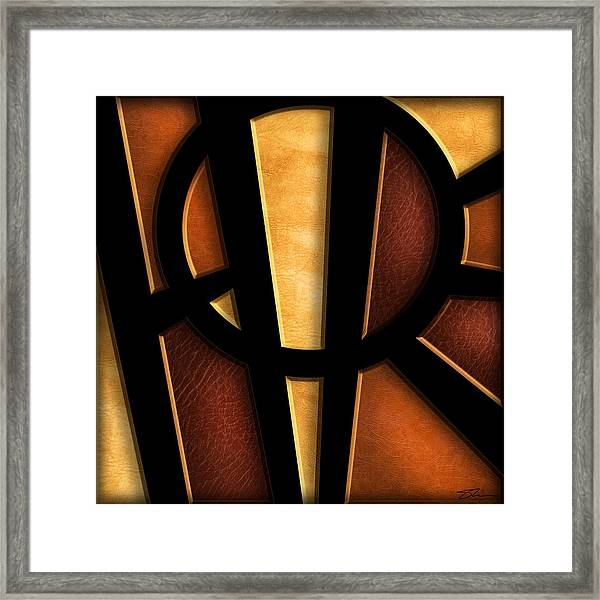 Framed Print featuring the mixed media Hope - Abstract by Shevon Johnson