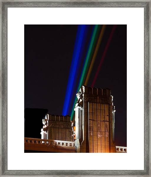 Hope Memorial Bridge, Aha Lights Framed Print