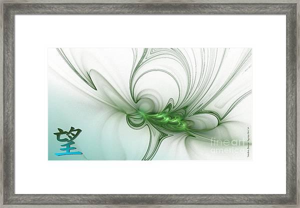 Framed Print featuring the digital art Hope by Sandra Bauser Digital Art