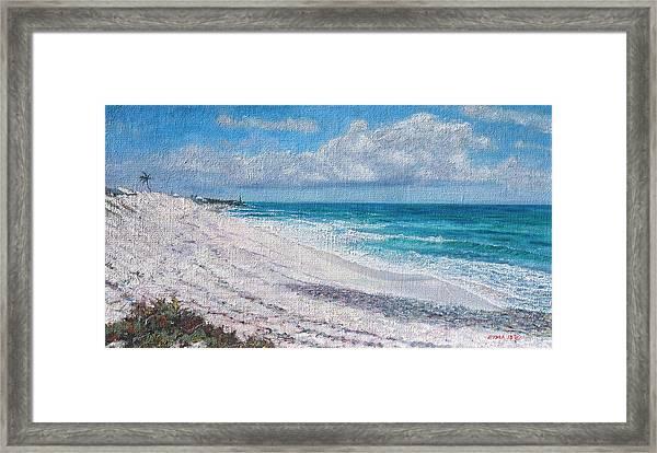 Hope Town Beach Framed Print