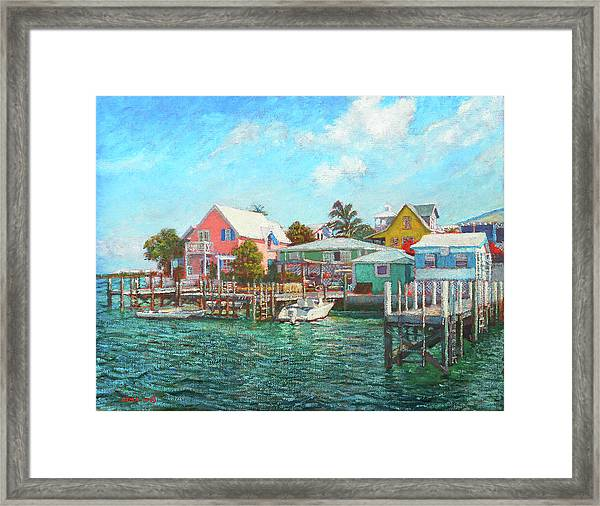Hope Town By The Sea Framed Print