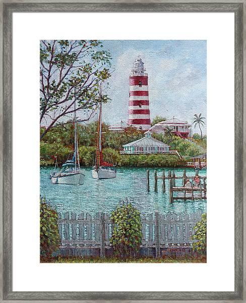 Hope Town Lighthouse Framed Print