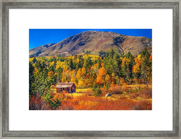 Hope Valley California Rustic Barn Framed Print
