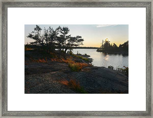 Hopewell Bay Island Rock Grass Framed Print