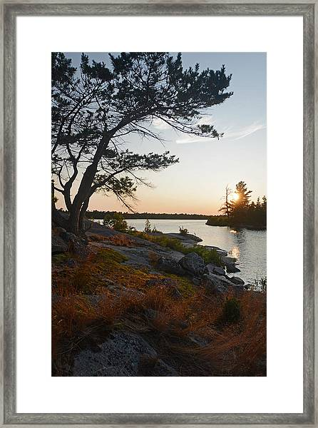 Hopewell Bay Island Wild Grass Sunset-1 Framed Print