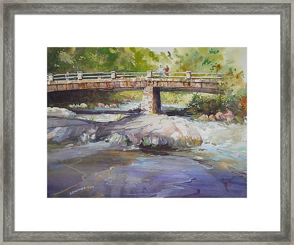 Hopper Bridge Creek Framed Print