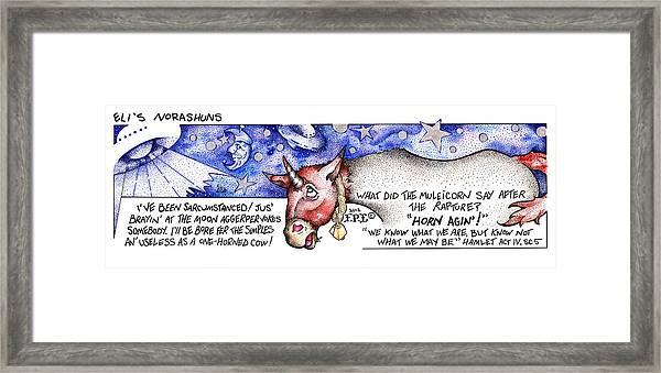 Horn Agin Fpi Cartoon Framed Print