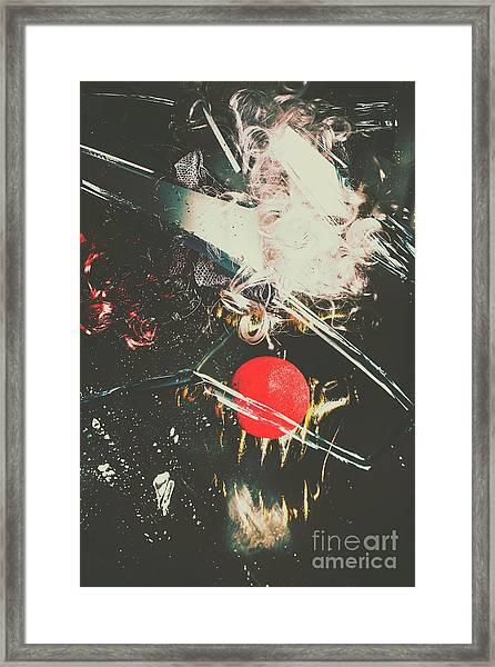 Horror House Of Mirror Framed Print