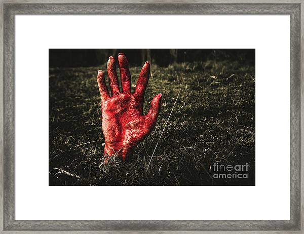 Horror Resurrection Framed Print
