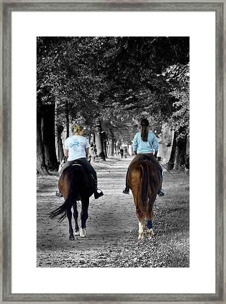 Horsback Rider In Hellbrunn Framed Print