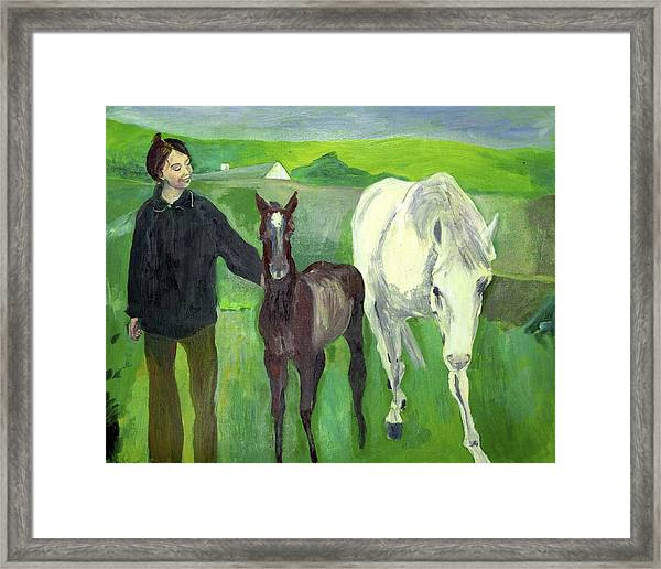 Horse And Foal Framed Print