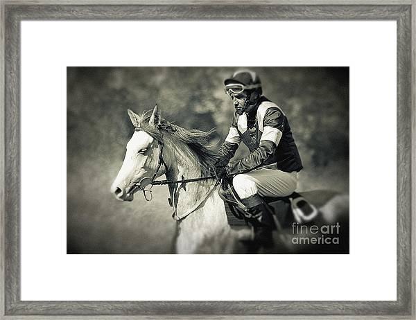Horse And Jockey Framed Print