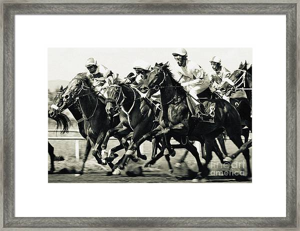 Horse Competition Vi - Horse Race Framed Print