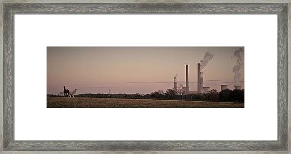 Horse Factory Framed Print