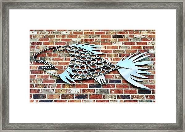 Fish Shoe  Framed Print