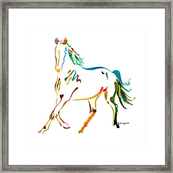 Horse Of Many Colors - 2 Framed Print