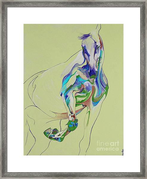 Horse Painting 675k Framed Print by Yaani Art