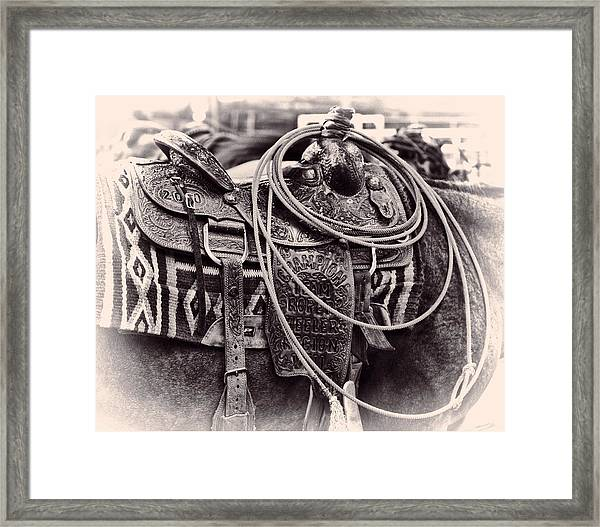 Horse Saddle Framed Print