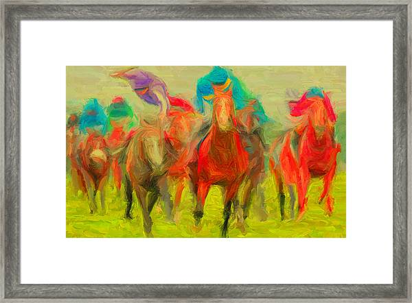 Horse Tracking Framed Print