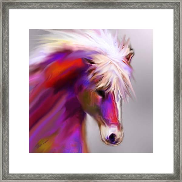 Horse True Colors Framed Print