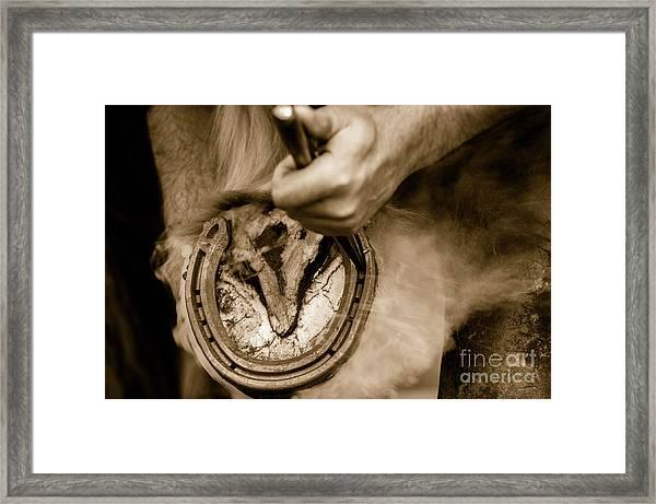 Horsehoe Fitting Framed Print