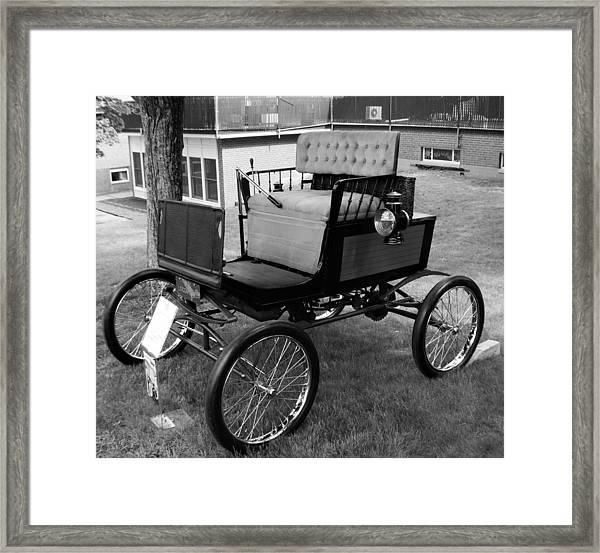 Horseless Carriage-bw Framed Print