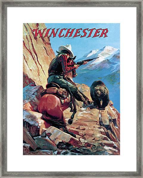 Horseman And Bear Framed Print