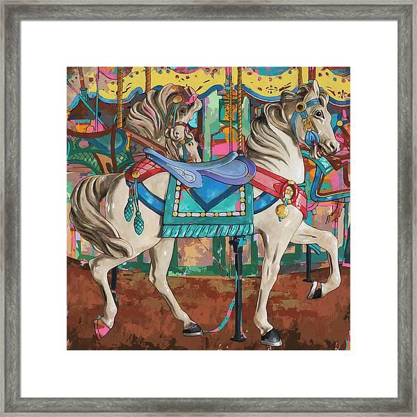 Horses #9 Framed Print by David Palmer